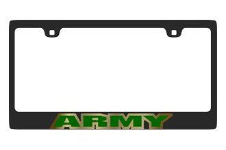 Eurosport Daytona® - MILITARY Carbon Black License Plate Frame with Army Logo