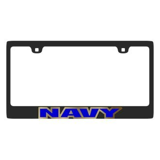 Eurosport Daytona® - LSN Black License Plate Frame with Navy Logo