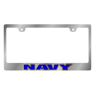 Eurosport Daytona® - LSN Chrome License Plate Frame with Navy Logo