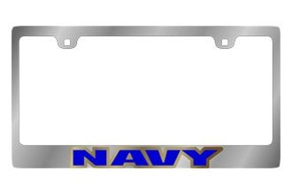 Eurosport Daytona® - US Navy Logo on Chrome License Plate Frame
