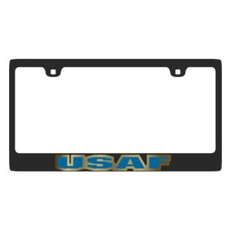 Eurosport Daytona® - MILITARY Carbon Black License Plate Frame with USAF Logo