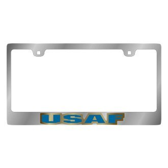 Eurosport Daytona® - LSN Chrome License Plate Frame with USAF Logo