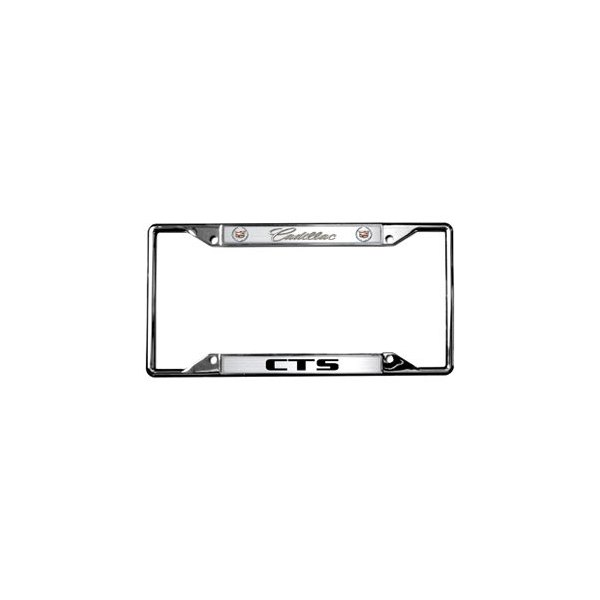 Eurosport Daytona® - GM License Plate Frame with Style 2 Cadillac CTS Logo and Dual Emblems