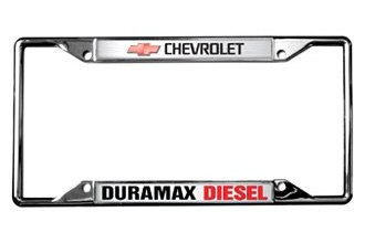 Eurosport Daytona® 6310DL - GM License Plate Frame with Duramax Diesel Logo