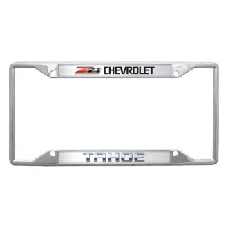 Eurosport Daytona® - GM License Plate Frame with Chevrolet Z-71 Tahoe Logo