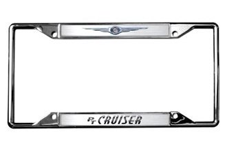 Eurosport Daytona® - Chrysler Logo PT Cruiser Logo on Chrome License Plate Frame