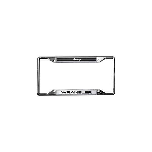 Eurosport Daytona® - Jeep Wrangler Logo on Chrome License Plate Frame