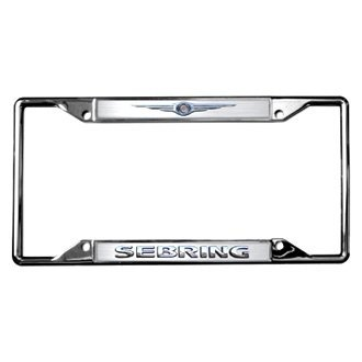 Eurosport Daytona® - MOPAR 4-Hole Chrome License Plate Frame with Sebring Logo and Chrysler Emblem