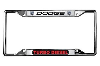 Eurosport Daytona® - MOPAR License Plate Frame with Turbo Diesel Logo