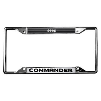 Eurosport Daytona® - MOPAR Chrome License Plate Frame with Jeep Commander Logo