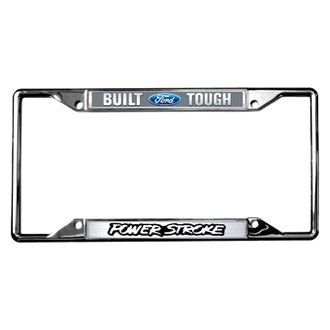 Eurosport Daytona® - Ford Motor Company License Plate Frame with Built Ford Tough Power Stroke Logo