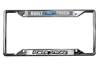 Eurosport Daytona® 6502DL - Ford Motor Company License Plate Frame with Built Ford Tough Power Stroke Logo
