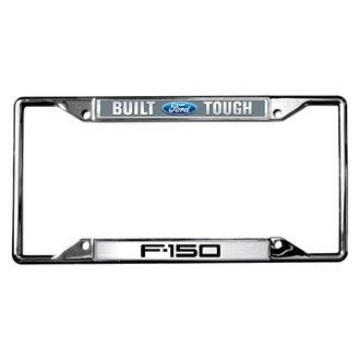 Eurosport Daytona® - Ford Motor Company EDI Series Chrome License Plate Frame with Style 2 Built Ford Tough F-150 Logo