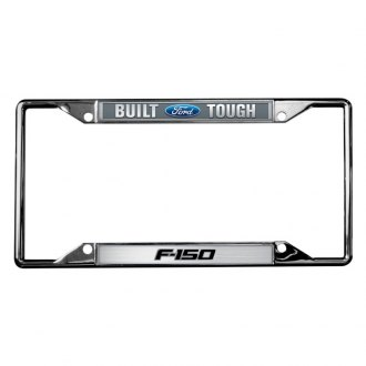 Eurosport Daytona® - Ford Motor Company Chrome License Plate Frame with Built Ford Tough F-150 Logo