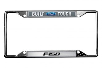 Eurosport Daytona® - Built Ford Tough F-150 Badge Logo on Chrome License Plate Frame