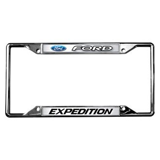 Eurosport Daytona® - Ford Motor Company Chrome License Plate Frame with Ford Expedition Logo and Emblem