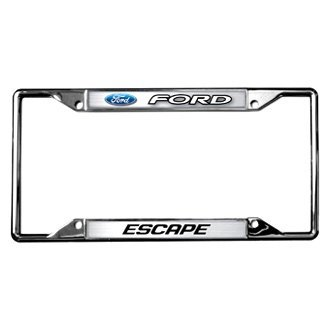 Eurosport Daytona® - Ford Motor Company Chrome License Plate Frame with Ford Escape Logo and Emblem