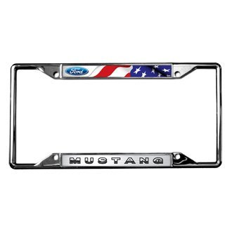 Eurosport Daytona® - Ford Motor Company License Plate Frame with Ford Mustang Logo