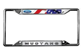 Eurosport Daytona® 6521DL-FL - Ford Motor Company License Plate Frame with Ford Mustang Logo