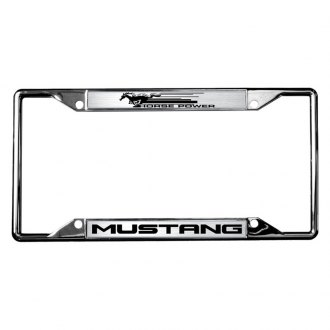 Eurosport Daytona® - Ford Motor Company License Plate Frame with H.P. Mustang Logo
