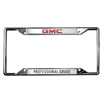 Eurosport Daytona® - GM License Plate Frame with GMC Professional Grade Logo