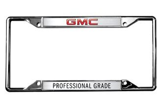 Eurosport Daytona® 6601DL - GM License Plate Frame with GMC Professional Grade Logo