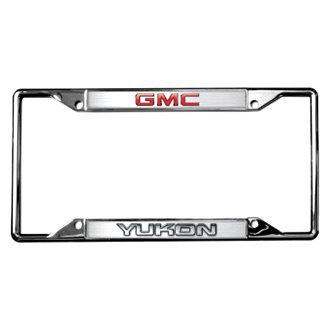 Eurosport Daytona® - GM Chrome License Plate Frame with Yukon New Logo and GMC Emblem