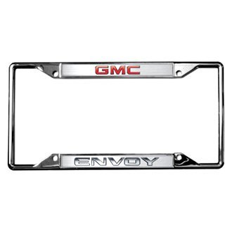 Eurosport Daytona® - GM Chrome License Plate Frame with Envoy New Logo and GMC Emblem