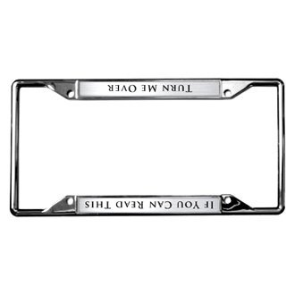 Eurosport Daytona® - Chrome License Plate Frame with If You Can Read This Logo
