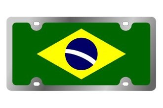 Eurosport Daytona® - International Flag License Plate with Brazil Logo