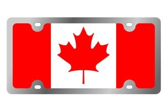 Eurosport Daytona® - International Flag License Plate with Canada (Leaf) Logo