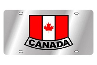 Eurosport Daytona® - International Flag License Plate with Canada (Emblem) Logo