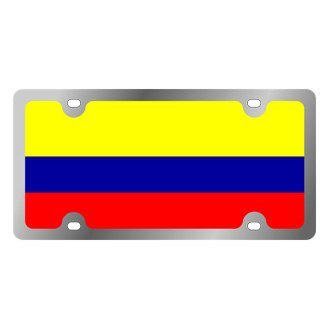 Eurosport Daytona® - International Flag License Plate with Colombia Logo