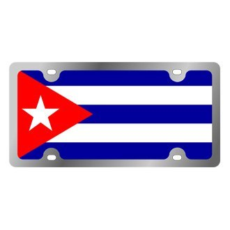 Eurosport Daytona® - International Flag License Plate with Cuba Logo