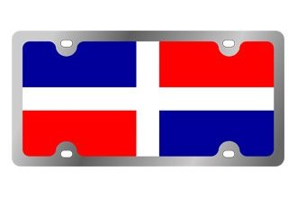 Eurosport Daytona® - International Flag License Plate with Dominican Republic Logo