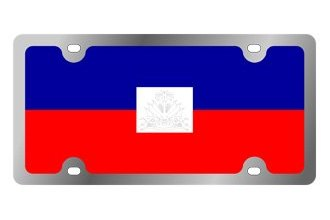 Eurosport Daytona® - International Flag License Plate with Haiti Logo