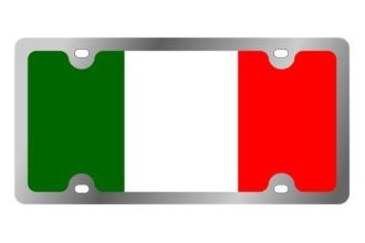 Eurosport Daytona® - International Flag License Plate with Italy(Colors) Logo