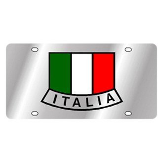 Eurosport Daytona® - International Flag License Plate with Italy(Emblem) Logo