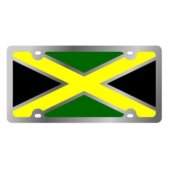 Eurosport Daytona® - International Flag License Plate with Jamaica Logo