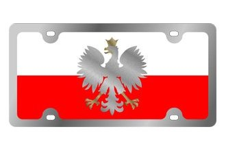Eurosport Daytona® - International Flag License Plate with Poland Logo