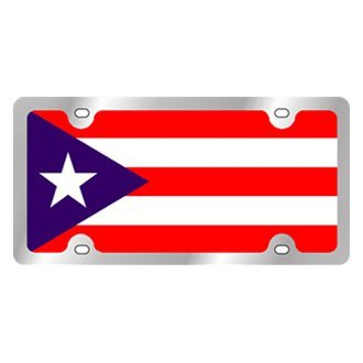 Eurosport Daytona® - International Flag License Plate with Puerto Rico Logo