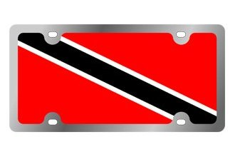 Eurosport Daytona® - International Flag License Plate with Trinidad Logo