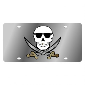 Eurosport Daytona® - LSN License Plate with Skull & Swords Logo