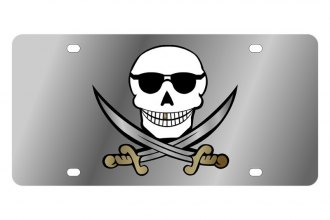 Eurosport Daytona® - LSN - License Plate with Skull & Swords Logo