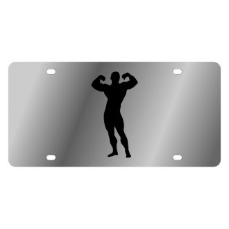 Eurosport Daytona® - LSN License Plate with Muscle Man Logo