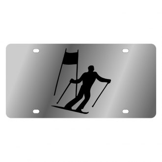Eurosport Daytona® - LSN License Plate with Style 1 Skier Logo