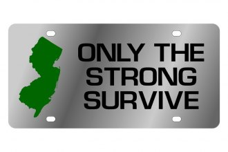 Eurosport Daytona® - LSN License Plate with Only The Strong Survive Logo