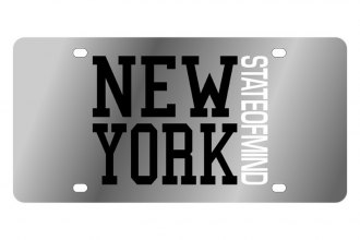 Eurosport Daytona® LS1068A-1 - LSN License Plate with New York State Of Mind Logo