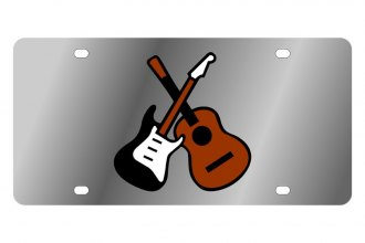 Eurosport Daytona® - LSN License Plate with Electric & Acoustic Guitars Logo