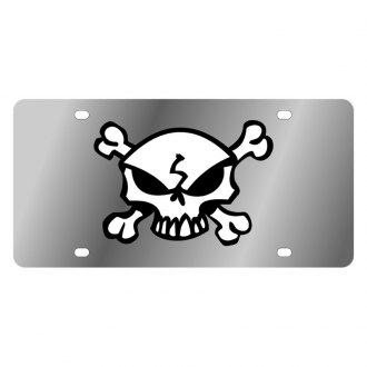 Eurosport Daytona® - LSN License Plate with Skull & Crossbones Logo